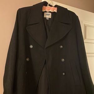 Black Old Navy Peacoat